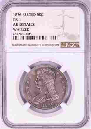 1836 Reeded Edge Capped Bust Half Dollar Coin GR-1 NGC