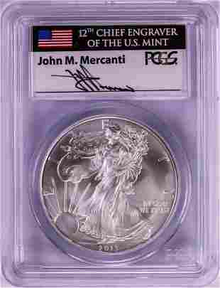 2013 $1 American Silver Eagle Coin PCGS MS70 First
