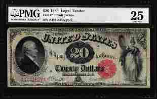 1880 $20 Legal Tender Note Fr.147 PMG Very Fine 25