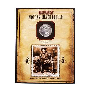 1887 $1 Morgan Silver Dollar Coin William Buffalo Bill