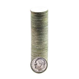 Roll of (50) Brilliant Uncirculated 1963-D Roosevelt