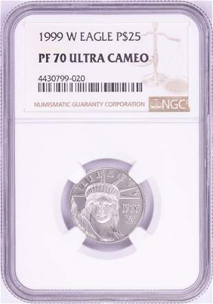 1999-W $25 Proof Platinum American Eagle Coin NGC PF70