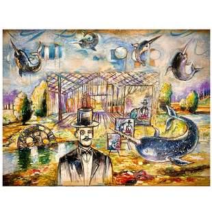 "Milan ""New Horizons"" Original Mixed Media on Canvas"
