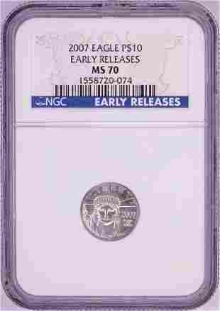 2007 $10 Platinum American Eagle Coin NGC MS70 Early