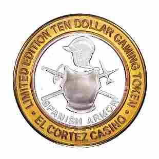 .999 Fine Silver El Cortez Hotel & Casino Las Vegas $10