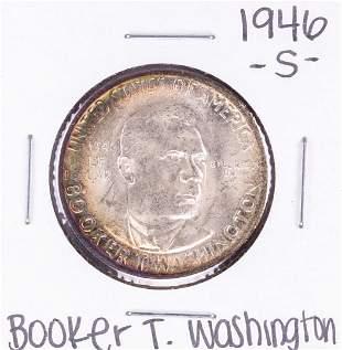 1946 Booker T Washington Commemorative Half Dollar Coin