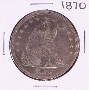 1870 Seated Liberty Silver Dollar