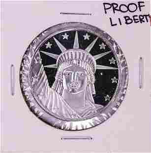 .999 Fine Silver Proof Liberty 1oz Silver Round