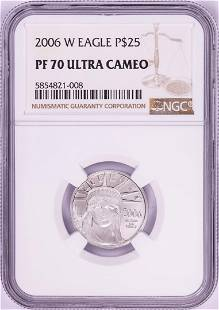 2006-W $25 Proof American Platinum Eagle Coin PCGS PF70