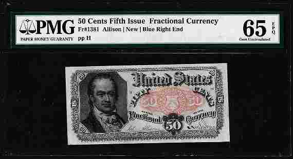 1874 Fifth Issue 50 Cent Fractional Currency Note