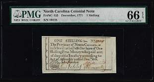 December, 1771 North Carolina 1 Shilling Colonial