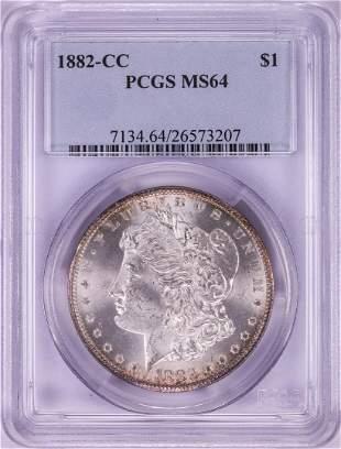 1882-CC $1 Morgan Silver Dollar Coin PCGS MS64