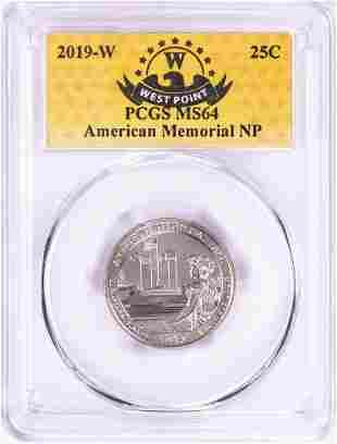 2019-W American Memorial National Park Quarter Coin