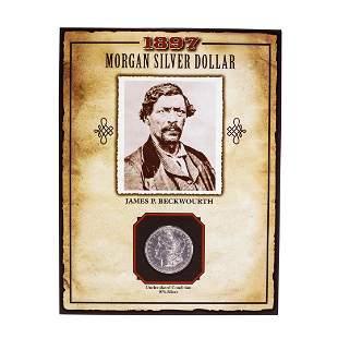 1897 $1 Morgan Silver Dollar Coin James P. Beckwourth