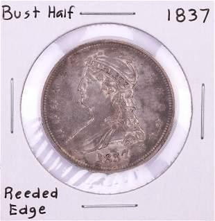 1837 Capped Bust Half Dollar Coin Reeded Edge