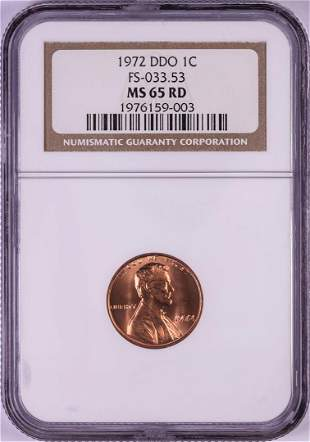 1972 DDO FS-033.53 Lincoln Memorial Cent Coin NGC