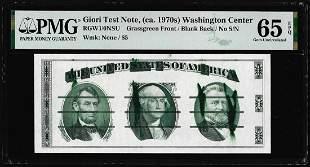 Circa 1970's Washington Center Giori Test Note PMG Gem