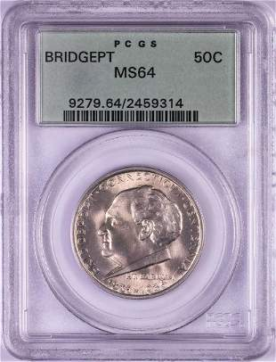 1936 Bridgeport Commemorative Half Dollar Coin PCGS