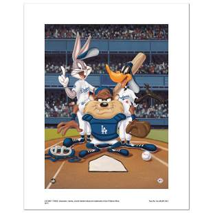 """Looney Tunes """"At The Plate (Dodgers)"""" Limited Edition"""