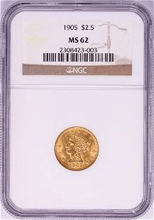 1905 $2 1/2 Liberty Head Quarter Eagle Gold Coin NGC