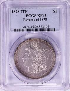 1878 7TF Reverse of 1878 $1 Morgan Silver Dollar Coin