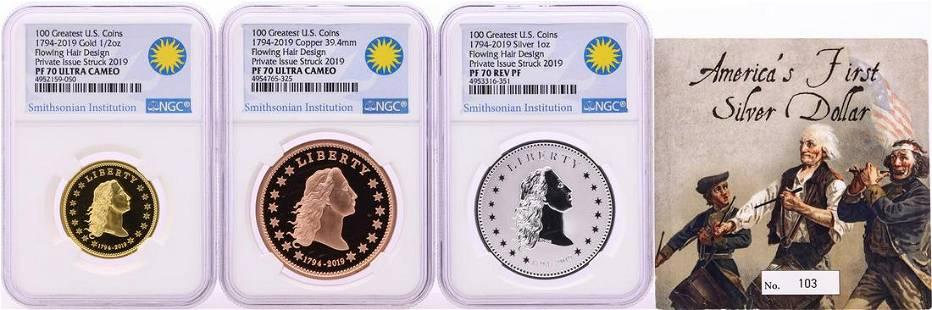 1794-2019 Smithsonian America's Finest Silver Dollar 3