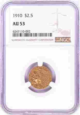 1910 $2 1/2 Indian Head Quarter Eagle Gold Coin NGC
