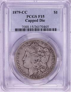 1879-CC Capped Die $1 Morgan Silver Dollar Coin PCGS
