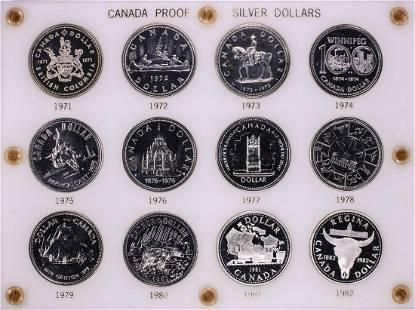 1971-1982 Proof $1 Canada Commemorative Silver Dollar