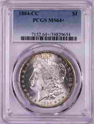 1884-CC $1 Morgan Silver Dollar Coin PCGS MS64+