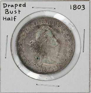 1803 Draped Bust Half Dollar Coin