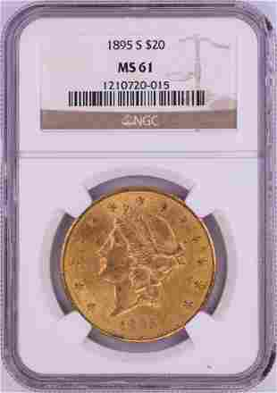 1895-S $20 Liberty Head Double Eagle Gold Coin NGC