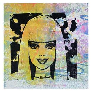 """Rodgers """"Barbie"""" Original Mixed Media on Canvas"""