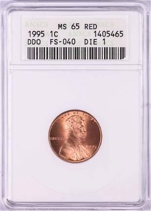 1995 DDO FS-040 Lincoln Memorial Cent Coin ANACS MS65