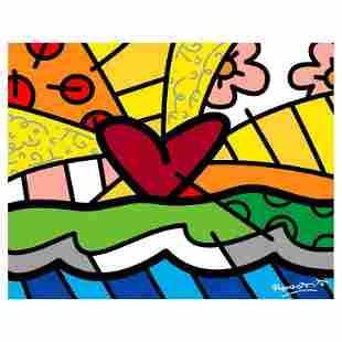 """Romero Britto """"Forever"""" Limited Edition Giclee on"""