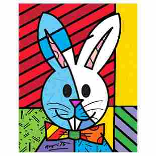"""Romero Britto """"Easter Bunny"""" Limited Edition Giclee on"""