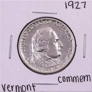 1927 Vermont Commemorative Half Dollar Coin