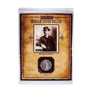 1882-O $1 Morgan Silver Dollar Coin Bat Masterson