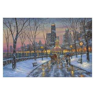 """Robert Finale """"Chicago Skyline"""" Limited Edition Giclee"""