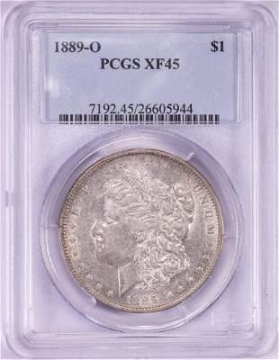 1889-O $1 Morgan Silver Dollar Coin PCGS XF45