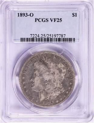 1893-O $1 Morgan Silver Dollar Coin PCGS VF25