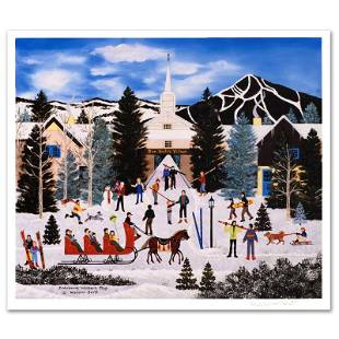 "Jane Wooster Scott ""Embracing Winter'S Joys"" Limited"