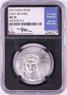 2017 $100 Platinum American Eagle Coin NGC MS70 Early