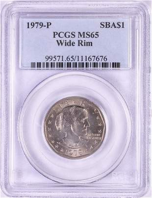1979-P $1 Susan B Anthony Dollar Coin PCGS MS65 Wide