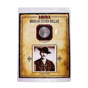 1881-O $1 Morgan Silver Dollar Coin Wyatt Earp Legends