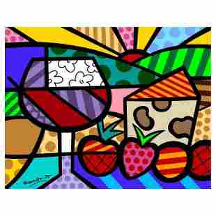 """Romero Britto """"Toast To Life"""" Limited Edition Giclee on"""