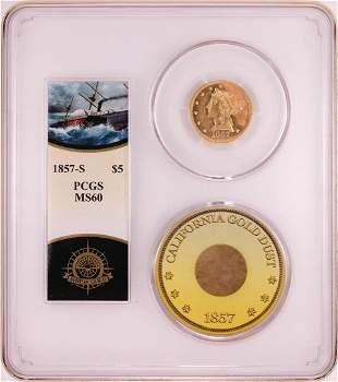 S.S. Central America Shipwreck 1857-S $5 Liberty Head