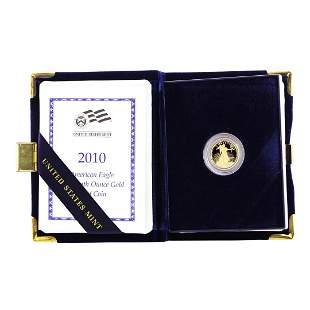 2010-W $5 Proof American Gold Eagle with Box & COA