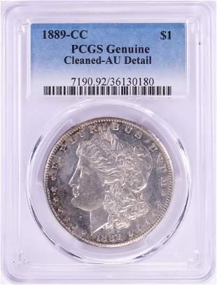 1889-CC $1 Morgan Silver Dollar Coin PCGS Genuine AU