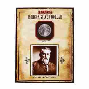 1885-O $1 Morgan Silver Dollar Coin Charles Goodnight